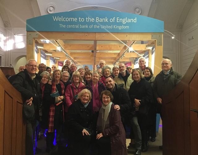 Group of people at Bank of England
