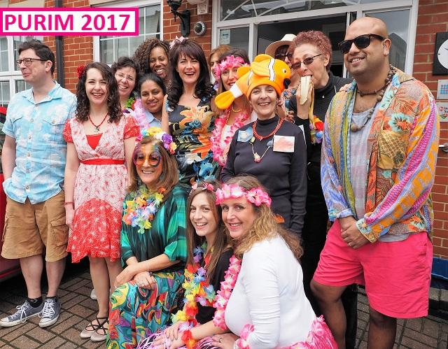 JDA Staff dressed up for Purim 2017