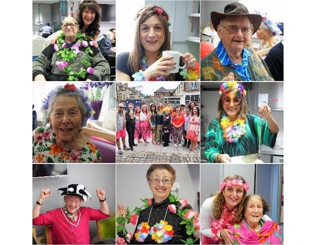 Purim celebration collage